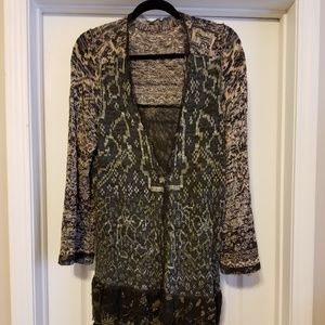 Free People fancy mixed media cardigan